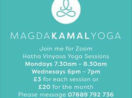 Zoom Yoga Classes