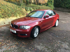 BMW 1 series, 2012 (12) Red Coupe, Automatic Diesel, 36,500 miles