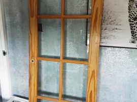 1 x Solid Pine Glazed Door