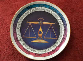 Astrology libra china display plate