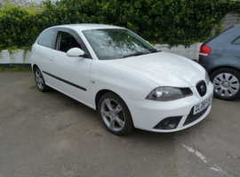 Seat Ibiza, 2008 (08) White Hatchback, Manual Petrol, 133,000 miles