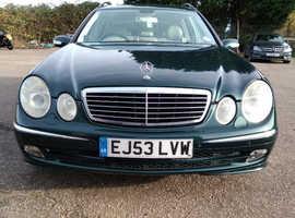 Mercedes E Class, 2003 (53) Green Estate, Automatic Diesel, 123,609 miles