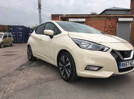 Nissan Micra, 2017 (67) White Hatchback, Manual Petrol, 4,382 miles