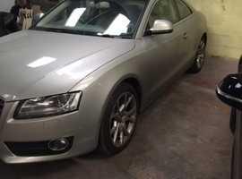 Audi A5, 2008 (57) Silver Coupe, Cvt Diesel, 154,187 miles