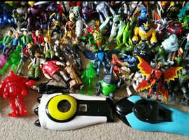 Massive Ben 10 figures and toys collection. Excellent condition.