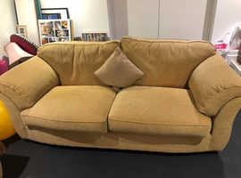 Stunning Pair of Gold pattern Sofas