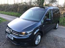 Volkswagen CADDY MAXI, 2018 (68) Blue MPV, Semi auto Diesel, 10,060 miles WHEELCHAIR PASSENGER OR SCOOTER