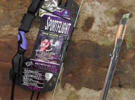 Barnett Sportflight Archery Set, Bow, Arrows, Finger tab, PLUS extra arrows