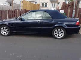 BMW 318I CAB, 2003 (52) Blue Saloon, Manual Petrol, 99,926 miles