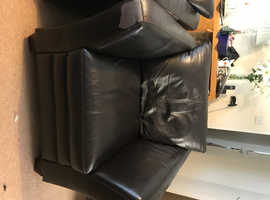 Two Armchairs Dark Brown