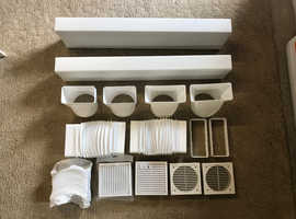 Assorted Plastic white Duct / Ducting