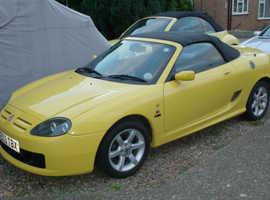 MG Mgf, 2003 (03) Yellow Sports, Manual Petrol, 58,400 miles