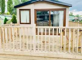 cheap caravan with decking for sale, pay monthly available