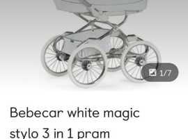 Bebecar magic white stylo 3 in 1 Pram