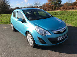 Vauxhall Corsa, 2011 (11) Blue Hatchback, Manual Petrol, 98,000 miles