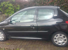 Peugeot 206, 2004 (04) Black Hatchback, Manual Petrol, 80 miles
