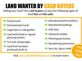 Land wanted for cash buyers with and without planning permission. (Free cash offer)
