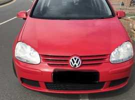 Volkswagen Golf, 2006 (56) Red Hatchback, Manual Diesel, 1,077 miles