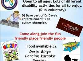 Monday Daytime Disablilty event plus amazing Easter Party