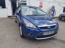 Ford Focus, 2009 (09) Blue Hatchback, Manual Petrol, 103,000 miles