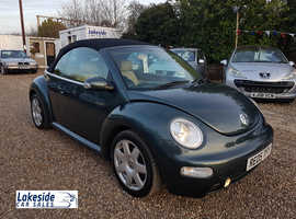 Volkswagen Beetle Cabriolet 2.0 Litre Petrol Manual, Lovely Condition, New MOT (Expires March 2020).
