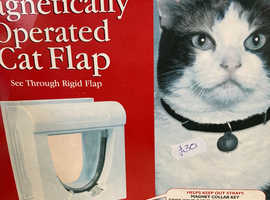 Magnetically Operated Cat Flap