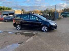Vauxhall Zafira, 2010 (10) Black MPV, Manual Petrol, 76,000 miles