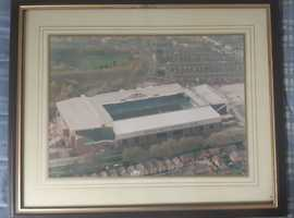 Aerial view of Aston Villa Football Club in Birmingham Photo