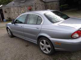 Jaguar X Type, 2009 (09) Blue saloon, Automatic Diesel, 52000 miles