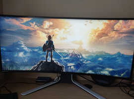 "Alienware AW3420DW 34"" IPS LED Curved Monitor, 3440 x 1440, 120Hz, Native G-Sync"