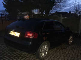 Audi A3, 2008 (58) Black Hatchback, Manual Diesel, 199,851 miles
