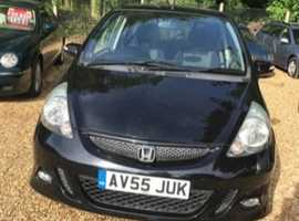 Honda Jazz, 2005 (55) Black Hatchback, Manual Petrol, 122,293 miles