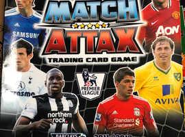 Match attax 2011/12 football cards