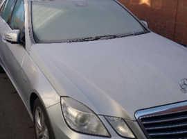 Mercedes E Class, E350. 2009 (59) Silver Saloon, Automatic Diesel, 55,000 miles