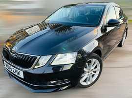 Skoda Octavia, 2019 (19) Black Hatchback, Semi auto Diesel, 45,000 miles