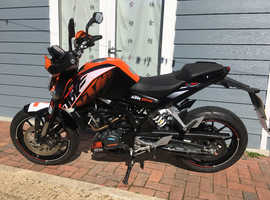 Excellent condition KTM Duke 125, MOT till dec19, 3370 miles, 66 reg
