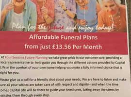 Four season funeral plans