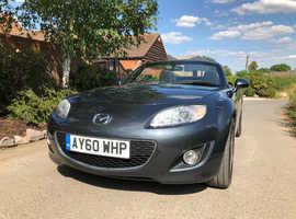 Mazda MX-5, 2010 (60) Grey Convertible, Manual Petrol, 64,194 miles FULL SERV HISTORY, superb car & condition