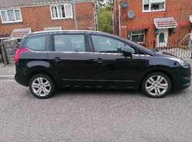 Peugeot 5008, 2016 (16) black mpv, Manual Diesel, 47,000 miles