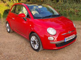 Fiat 500, 2014 (64) Red Hatchback, Manual Petrol, 69,000 miles