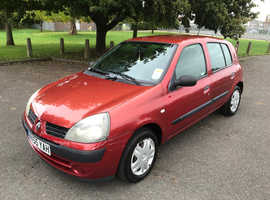 Renault Clio, 2005 (55) Red Hatchback, Manual Petrol, 61,000 miles