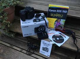 Canon 70d body & Extras