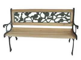 BIRCHTREE OUTDOOR WOODEN 3 SEATER ROSE STYLE GARDEN BENCH £132.75