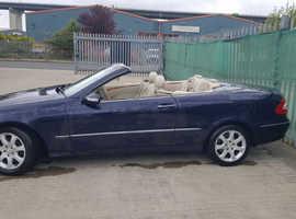 Mercedes Clk, 2004 (54) Blue Convertible, Automatic Petrol, 144,000 miles