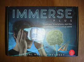 Immerse Plus Virtual Relaity Headset Complete With Instructions and Original Box As New Condition