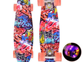 "COSTWAY 22"" Skateboard with LED Light Up Wheels (SP35809)"