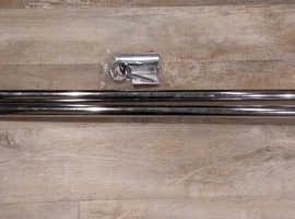 Brand new chrome curtain rail