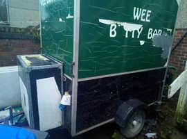 Burger van and generator