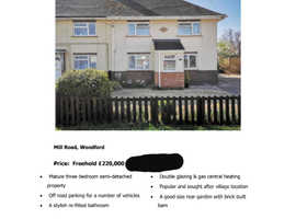 3 bed semi detached house Woodford