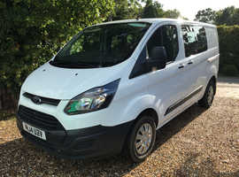 2014 Ford Transit Custom 290 2.2TDCi 100PS 6 seater double crew cab SWB white